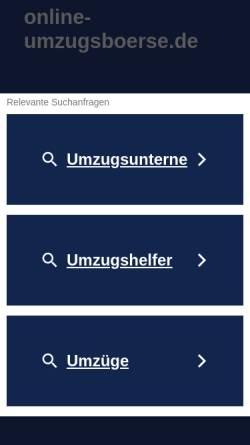 Vorschau der mobilen Webseite www.online-umzugsboerse.de, online-umzugsboerse.de