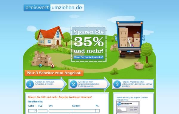 Vorschau von www.preiswert-umziehen.de, preiswert umziehen (Avalanche GmbH)