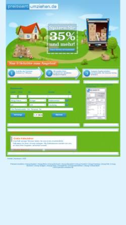 Vorschau der mobilen Webseite www.preiswert-umziehen.de, preiswert umziehen (Avalanche GmbH)