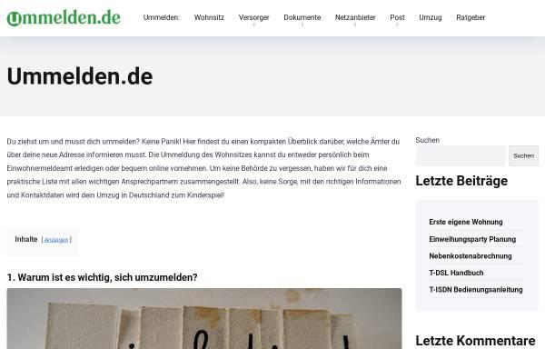 Vorschau von www.ummelden.de, Ummelden.de