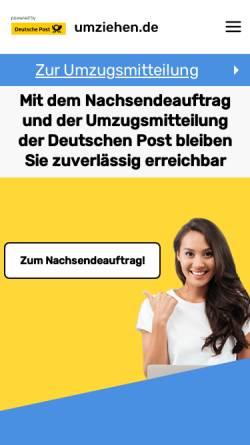 Vorschau der mobilen Webseite www.umziehen.de, Umziehen.de