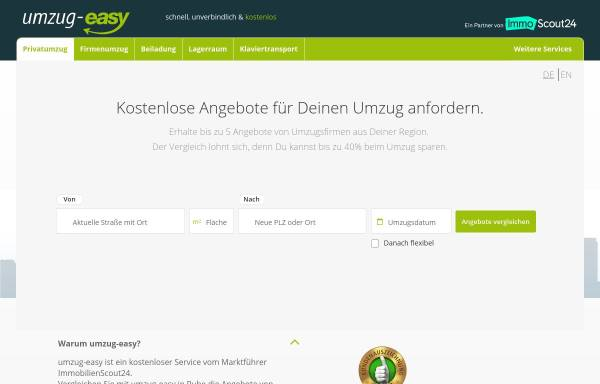 Vorschau von www.umzug-easy.de, Umzug Easy