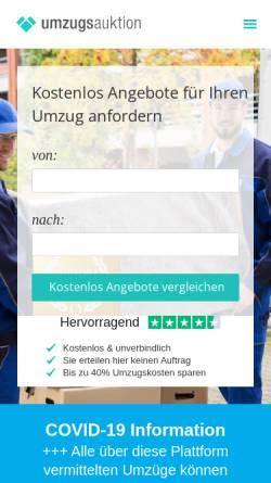 Vorschau der mobilen Webseite www.umzugsauktion.de, Umzugsauktion.de