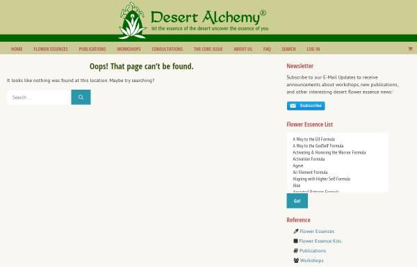 Vorschau von www.desert-alchemy.com, Desert Alchemy Blüten-Essenzen