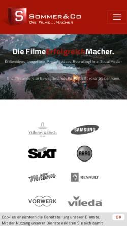 Vorschau der mobilen Webseite www.sommer-co.com, Sommer & Co. GmbH