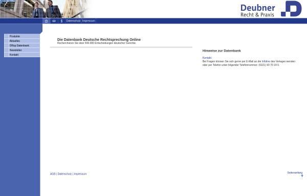 Vorschau von www.drsp.net, Deutsche Rechtsprechung Online