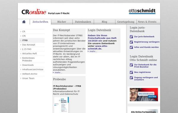 Vorschau von www.itrb.de, IT-Rechtsberater ehemals ComputerrechtIntern.