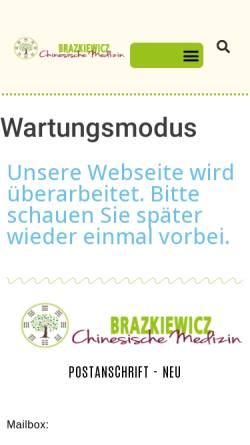 Vorschau der mobilen Webseite www.die-chinesische-medizin.com, Arztpraxis für Traditionelle Chinesische Medizin, Frank Brazkiewicz