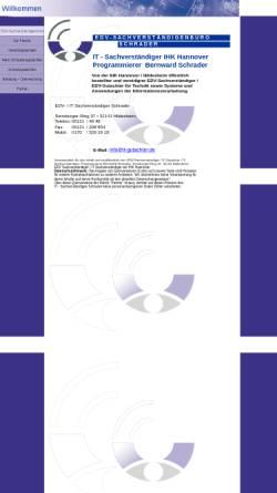 Vorschau der mobilen Webseite www.it-gutachter.de, EDV-Sachverständiger Dipl.-Prog. Bernward Schrader