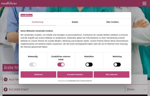 Vorschau von www.medfuehrer.de, Medführer