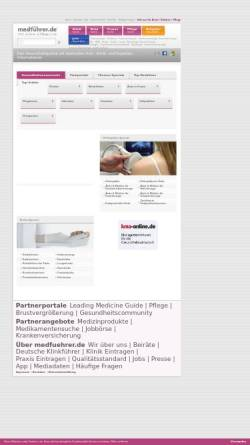 Vorschau der mobilen Webseite www.medfuehrer.de, Medführer
