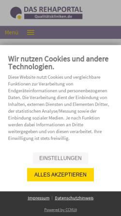 Vorschau der mobilen Webseite www.medmonitor.de, Medmonitor