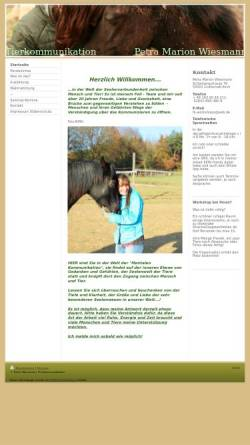 Vorschau der mobilen Webseite www.tierkommunikator.com, Tierkommunikation Petra Wiesmann