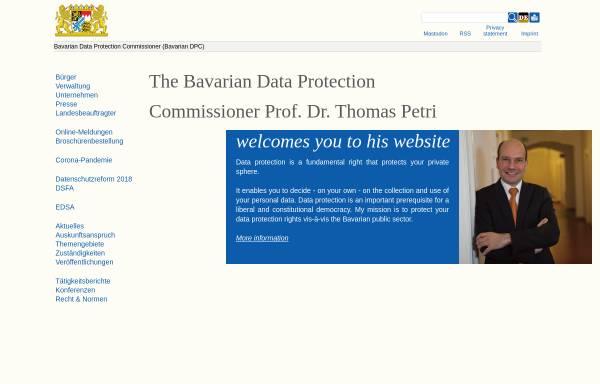 Vorschau von www.datenschutz-bayern.de, Bayern - Datenschutzbeauftragter