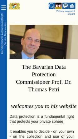 Vorschau der mobilen Webseite www.datenschutz-bayern.de, Bayern - Datenschutzbeauftragter