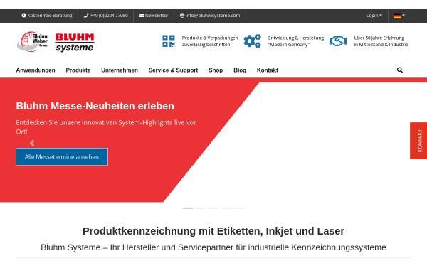 Vorschau von www.bluhmsysteme.com, Bluhm Systeme GmbH