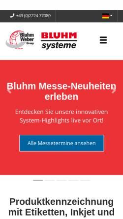 Vorschau der mobilen Webseite www.bluhmsysteme.com, Bluhm Systeme GmbH