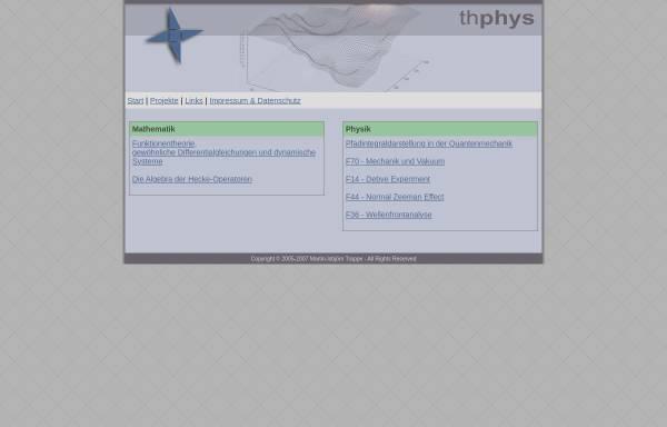 Vorschau von www.thphys.de, Martin-Isbjörn Trappe