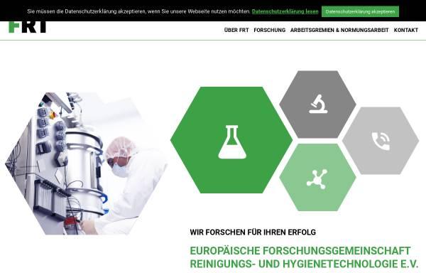 Vorschau von frt.de, Europäische Forschungsgemeinschaft Reinigungs- und Hygienetechnologie