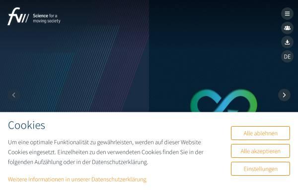 Vorschau von www.fvv-net.de, Forschungsvereinigung Verbrennungskraftmaschinen e.V.(FVV)