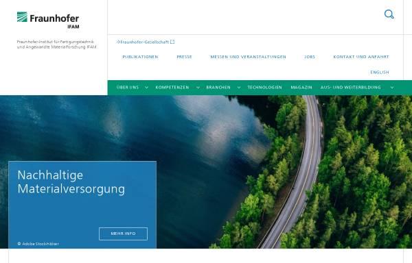 Vorschau von www.ifam.fraunhofer.de, Fraunhofer Institut für Fertigungstechnik und Angewandte Materialforschung