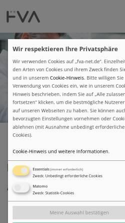 Vorschau der mobilen Webseite www.fva-net.de, FVA - Forschungsvereinigung Antriebstechnik e.V.