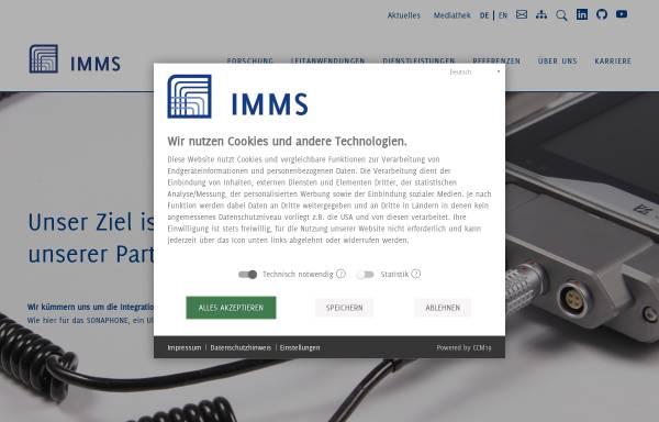 Vorschau von www.imms.de, IMMS Institut für Mikroelektronik- und Mechatronik-Systeme gGmbH