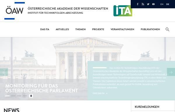 Vorschau von www.oeaw.ac.at, Institut für Technikfolgen-Abschätzung (ITA)