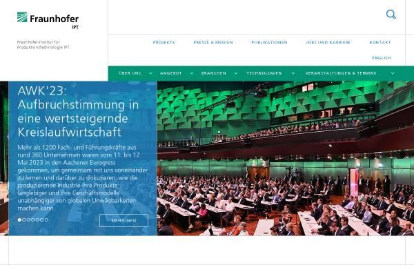 Vorschau von www.ipt.fraunhofer.de, IPT Fraunhofer-Institut für Produktionstechnologie
