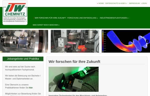 Vorschau von www.itw-chemnitz.de, ITW e.V.