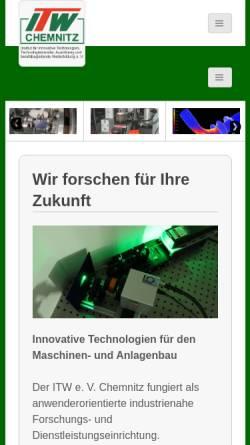 Vorschau der mobilen Webseite www.itw-chemnitz.de, ITW e.V.