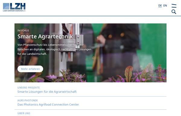 Vorschau von www.lzh.de, Laser Zentrum Hannover e.V. (LZH)