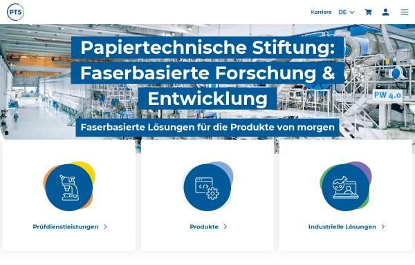 Vorschau von www.ptspaper.de, Papiertechnische Stiftung (PTS)