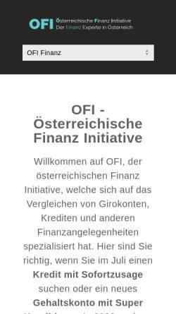 Vorschau der mobilen Webseite www.ofi.co.at, Technologie & Innovation GmbH Österreichisches Forschungsinstitut für Chemie und Technik