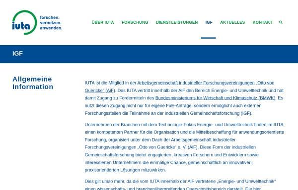 Vorschau von www.veu.de, Verein zur Förderung der Energie- und Umwelttechnik e.V. (VEU)