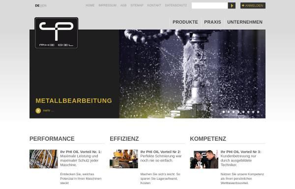 Vorschau von www.phi-oil.com, Phi Premium Oil Handelsges.m.b.H.