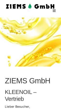 Vorschau der mobilen Webseite www.ziemsgmbh.de, Ziems GmbH
