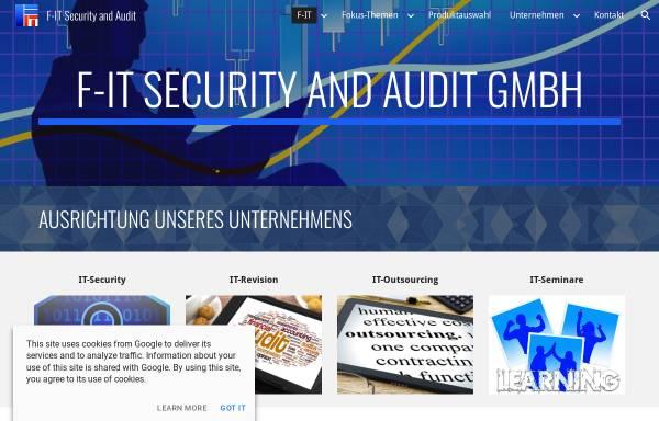 Vorschau von www.f-it.biz, F-IT Gesellschaft für IT-Governance mbH