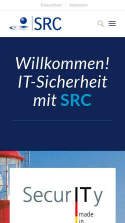 Vorschau der mobilen Webseite www.src-gmbh.de, Security Research & Consulting GmbH