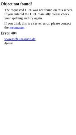 Vorschau der mobilen Webseite www.meb.uni-bonn.de, Fachschaft Medizin Universität Bonn
