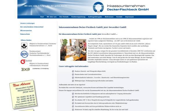 Vorschau von www.inkasso-varel.de, Decker-Fischbeck Inkasso, Inh. Edith Decker-Fischbeck