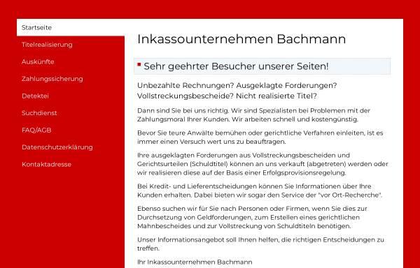 Inkassounternehmen Bachmann In Weimar Legefeld Deutschland Inkasso