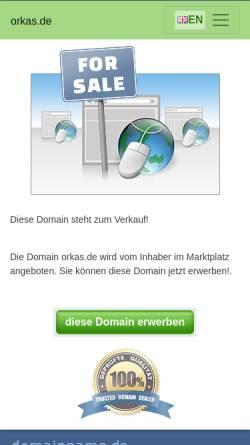 Vorschau der mobilen Webseite www.orkas.de, Orkas Gesellschaft für Forderungseinzug mbH