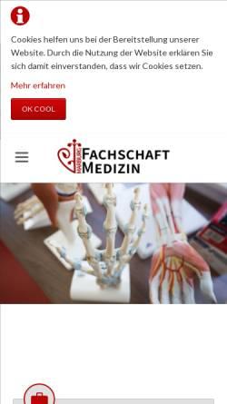 Vorschau der mobilen Webseite www.fs-medizin.de, Fachschaft Medizin Universität Marburg