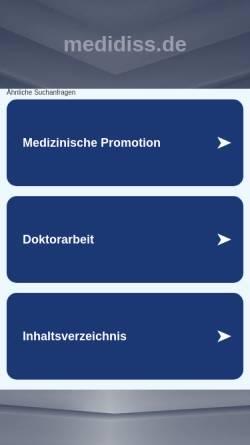 Vorschau der mobilen Webseite www.medidiss.de, Medidiss.de - Die medizinische Doktorarbeit