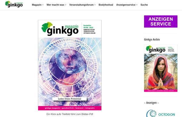 Vorschau von www.ginkgo-magazin.de, Ginkgo Magazin
