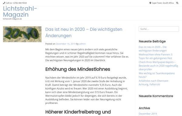 Vorschau von lichtstrahl-magazin.de, Lichtstrahl