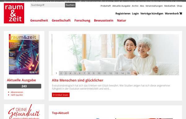 Vorschau von www.raum-und-zeit.com, Raum und Zeit
