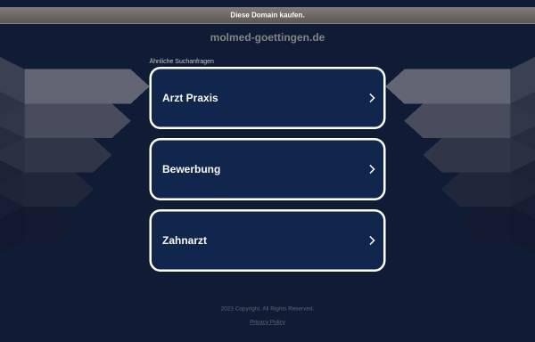Vorschau von www.molmed-goettingen.de, Molekulare Medizin an der Georg August Universität Göttingen
