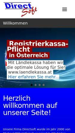 Vorschau der mobilen Webseite www.directsoft.at, Fleisch, Michael